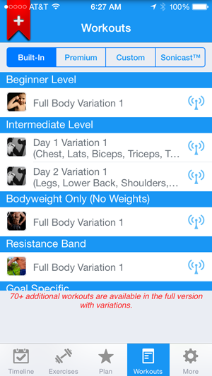 Choose your fitness level with Fitness Buddy