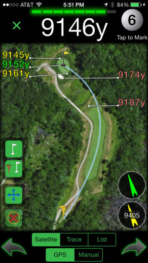 Golf GPS yardage