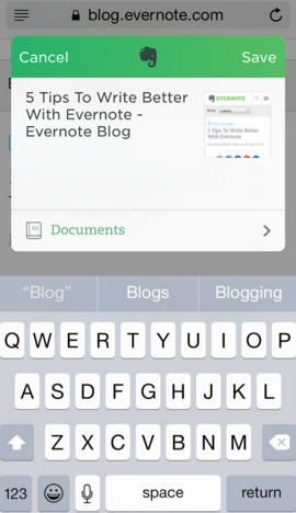 Evernote clip notes